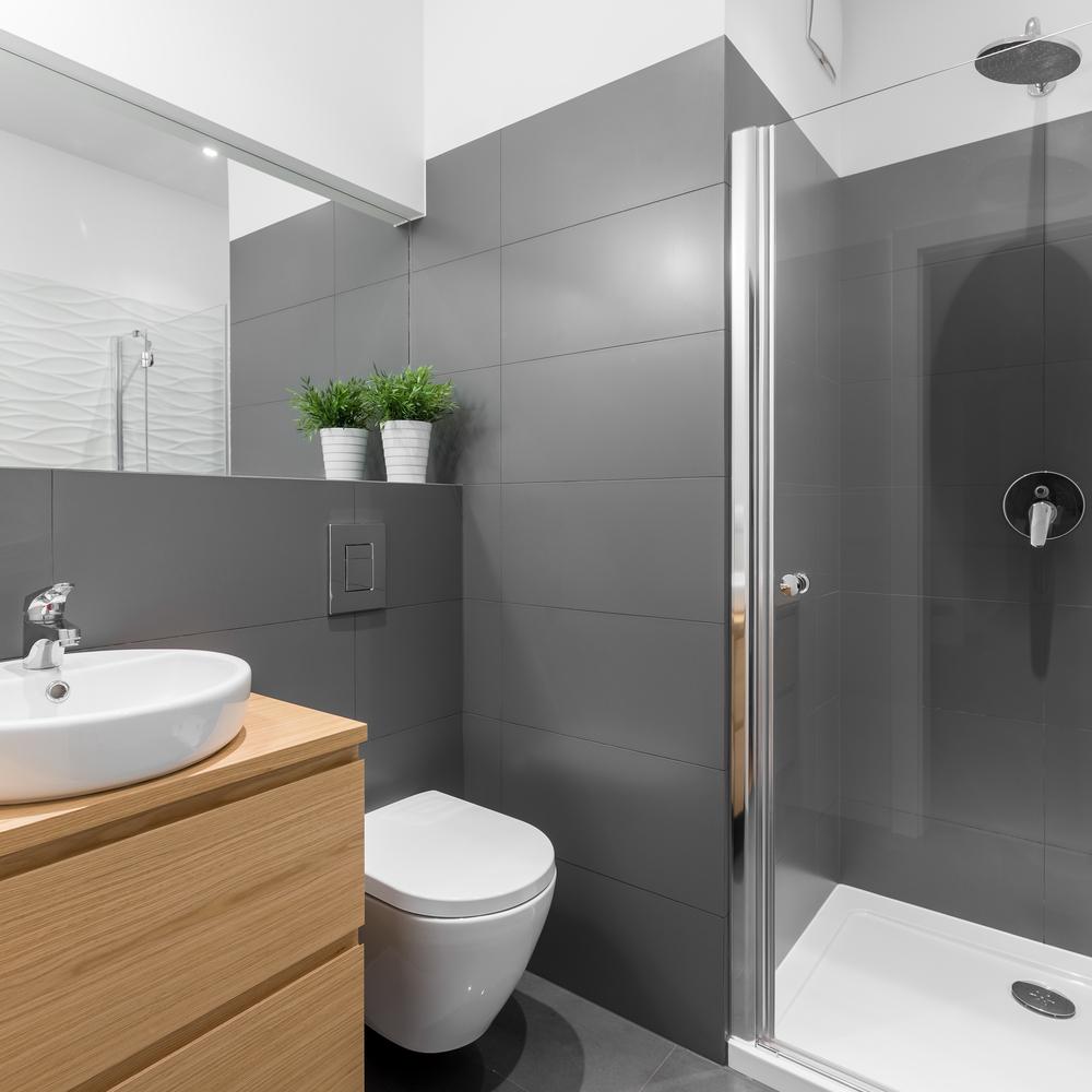 badeværelse med brusekabine
